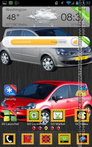 Renault Modus theme screenshot