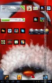 Santa kitty 01 theme screenshot