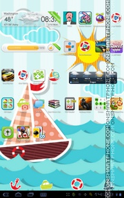 Sea World 01 theme screenshot