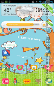 Leslies Love tema screenshot