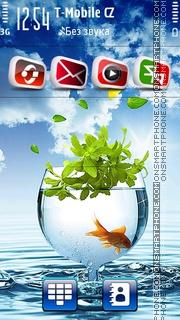 Goldfish Blue HD 01 es el tema de pantalla