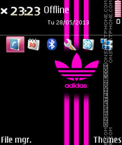 Adidas Pink Stripes theme screenshot