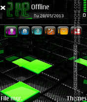 Black G 01 theme screenshot