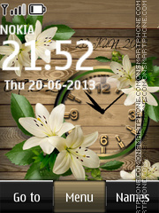 Lilium candidum dual clock theme screenshot