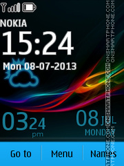 Sony Xperia Z Design theme screenshot