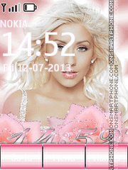 Christina Aguilera theme screenshot