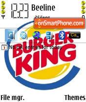 Скриншот темы Burger King