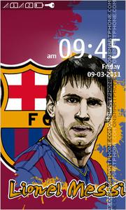 Lionel Messi 2014 theme screenshot
