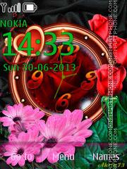 Roses and Clock 01 theme screenshot
