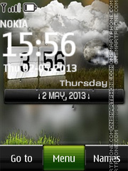 Htc Live Clock Widget theme screenshot