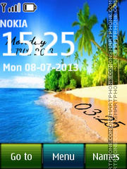 Tropical Digital theme screenshot