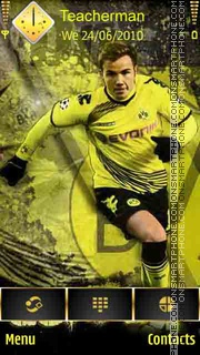 Mario Gotze theme screenshot