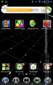 Blackreal theme screenshot