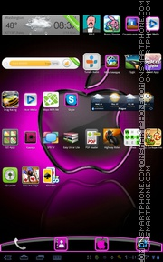 Pink Apple 01 theme screenshot