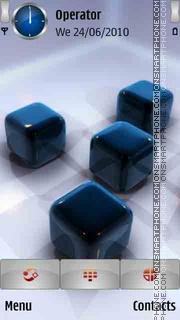 Cubes 3D Blue theme screenshot