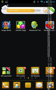 Blackgold 01 tema screenshot