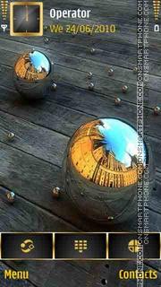 3D Silver Balls theme screenshot