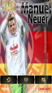 Manuel Neuer theme screenshot