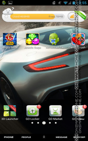 Aston Martin One theme screenshot