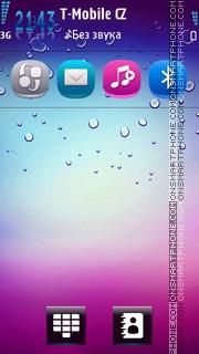 Neon Drops es el tema de pantalla