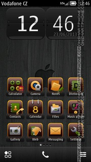 Apple Black 01 theme screenshot