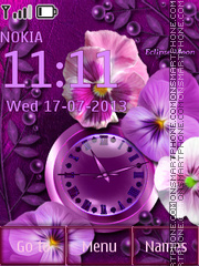 Violets theme screenshot