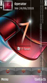 Microsoft xp seven theme screenshot