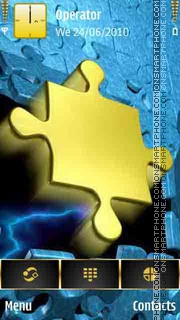 Golden Puzzle theme screenshot