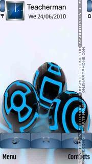 Black Blue Orbs theme screenshot
