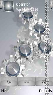 3D Silver View theme screenshot