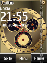 Rolex Dual Clock theme screenshot