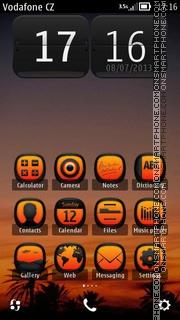 Sunset HD 01 theme screenshot