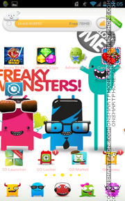 Freaky Monsters theme screenshot