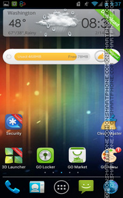 ICS Android theme screenshot