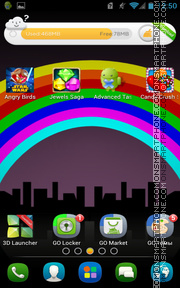 After The Rain Rainbow es el tema de pantalla