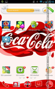 Coca Cola 2015 tema screenshot