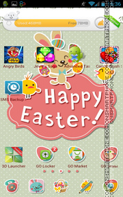 Happy Easter 11 tema screenshot
