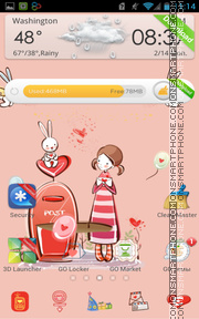 Miss You Girl theme screenshot