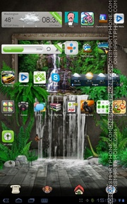 Theme 3D Waterfall theme screenshot