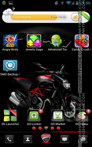 Ducati Diavel Carbon 01 theme screenshot