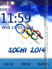 Winter Olympic Sochi 2014 theme screenshot
