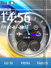 Digital Speed Clock theme screenshot