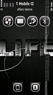 Metal Life HD theme screenshot
