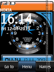 Dual Blue Clock es el tema de pantalla