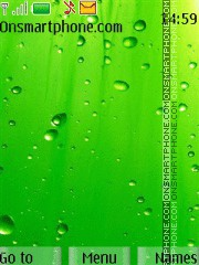 Fresh Green Drops theme screenshot