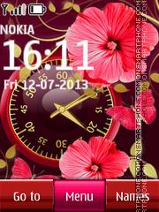 Flower Dual Clock 05 theme screenshot