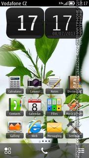 White Flowers 04 theme screenshot