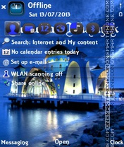 Blue Ramzan theme screenshot