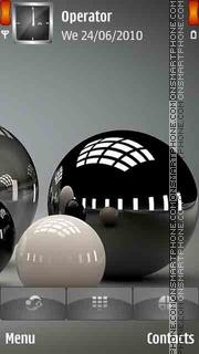 Spheres Balls theme screenshot