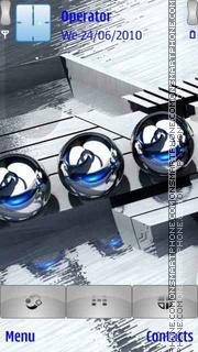 Spheres Blue Balls theme screenshot